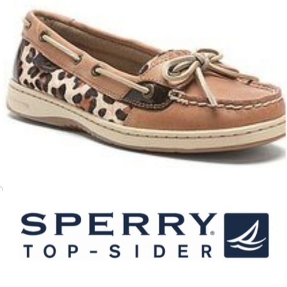 63b4457537c9 Sperry Shoes | Topsider Cheetah Print Boat Shoe | Poshmark